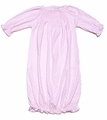 Kissy Kissy Infant Baby Girls Mega Dots Smocked Ruffle Gown - Pink