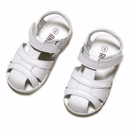 L'Amour Angel Boys / Girls Classic Fisherman Sandals - White
