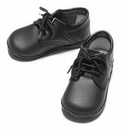 L'Amour Angel Leather Dressy Oxfords Shoes for Boys - Black