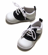 L'Amour Baby / Toddler Boys / Girls Leather Saddle Oxfords - Angel Shoes - NAVY Blue & White