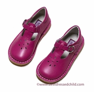 L'Amour Girls T-Strap Shoes - Fuchsia Pink