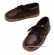 L'Amour Little Boys Leather Lace Up Dress Shoes - Brown