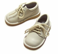 L'Amour Little Boys Leather Oxford Dress Shoes for Easter - Ecru