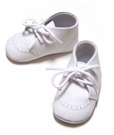L'Amour White Dress Crib Shoes - Oxfords for Infant Boys - Pre Walkers