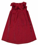 Laundry by Shelli Segal Girls Claire Red Crinkle Shimmer Christmas Party Dress