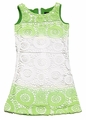 Laundry by Shelli Segal Girls Sarah Lime Green / White Crochet Lace Dress
