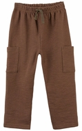 Le Top Baby / Toddler Boys French Terry Pants - Coffee Brown