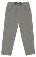 Le Top Baby / Toddler Boys French Terry Pants - Graphite Gray