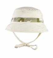 Le Top Baby / Toddler Boys Khaki / Camoflage Little Explorer Hat with Ties