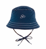 Le Top Baby / Toddler Boys Navy Blue Bucket Hat with Fish and Ties