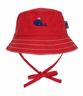 Le Top Baby / Toddler Boys Red Bucket Hat - Little Whale