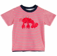Le Top Baby / Toddler Boys Striped Red Lobster Shirt