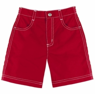 Le Top Baby / Toddler Boys Woven Shorts - Red