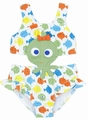 Le Top Baby / Toddler Girls Colorful Fish / Green Octopus Monokini Swimsuit