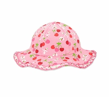 Le Top Girls Cherry Pink Hearts Sun Hats