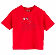 Le Top Infant / Toddler Boys Lobster SPF Sun Protection Rash Guard Shirt - Red