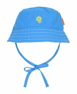 Le Top Infant / Toddler Boys Ocean Blue Bucket Hat with Ties