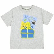 Le Top Toddler Boys Heather Gray Pirate Treasure Chest / Map Shirt