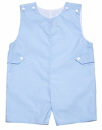 Le Za Me Baby / Toddler Boys Easter Shortall with Tabs - Light Blue