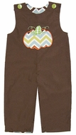 Le Za Me Baby / Toddler Boys Reversible Chevron Longall - Brown with Chevron Pumpkin