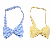 Le Za Me Boys Spring / Easter Bow Ties - Select Blue / Yellow