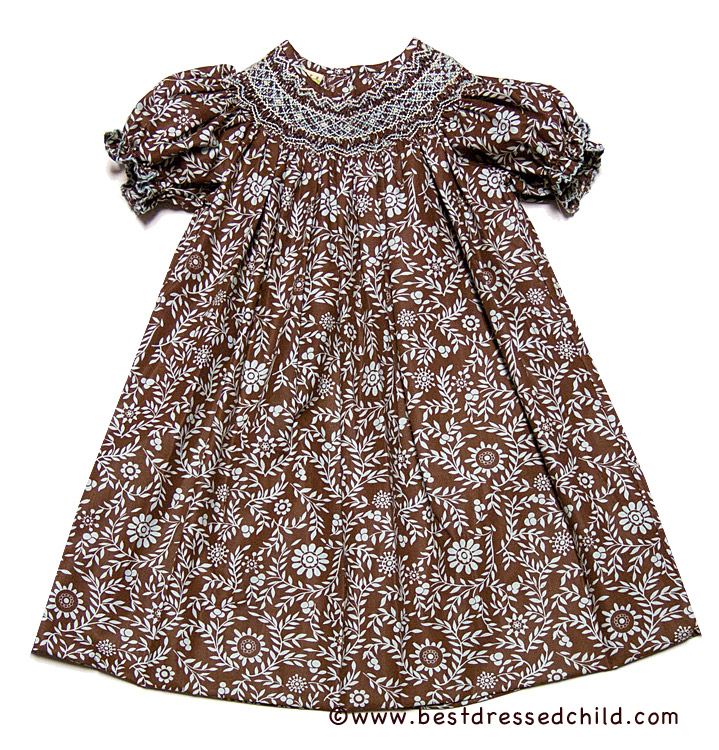 Smocked Fall Dresses Girls Chip Smocked Fall Dress