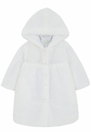 LeTop Girls Soft White Faux Fur Coat with Hood