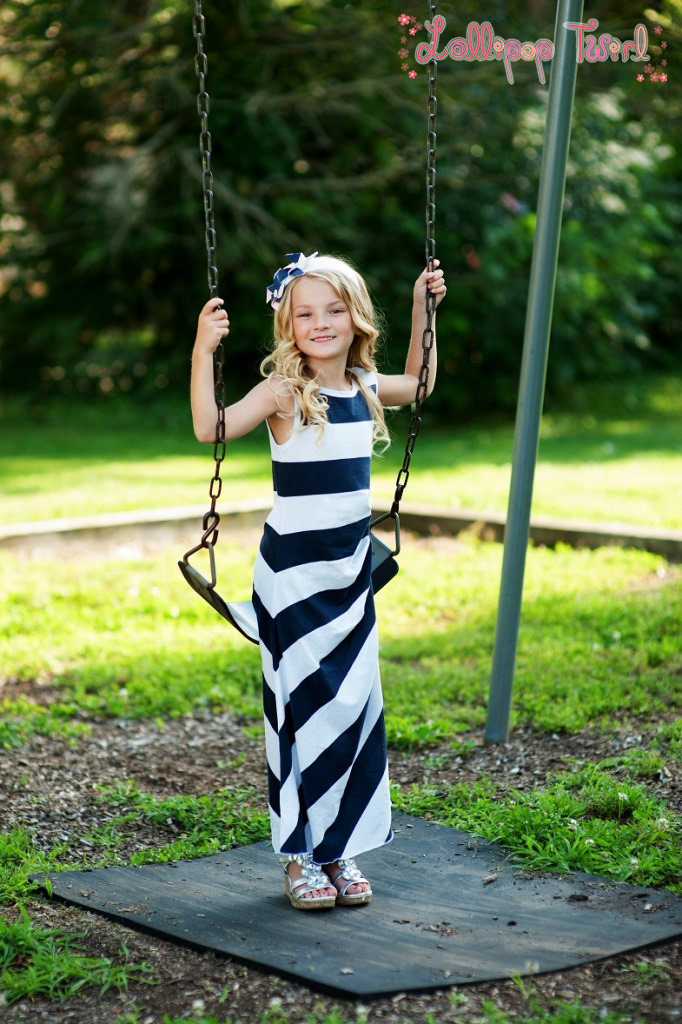 Lollipop Twirl By Lemon Loves Lime Girls Navy Blue White