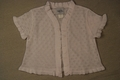 Maggie Breen by Funtasia Girls Short Sleeved White Pointelle Bolero Sweater