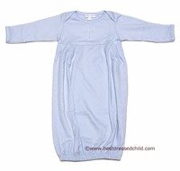 Magnolia Baby Blessed Baby Infant Boys Gown with Embroidered Cross - BLUE