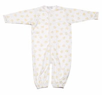Magnolia Baby Infant Boys / Girls Unisex Yellow Ducky Convertible Gown / Romper