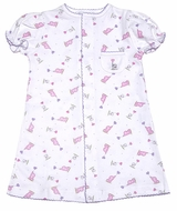 Magnolia Baby Infant Girls Elephant / Balloons Print Gown - Pink