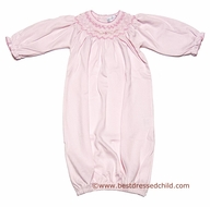 Magnolia Baby Infant Girls Soft Pink Smocked Hannah Classic Gown