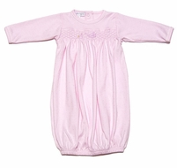 Magnolia Baby Infant Girls Worth the Wait Stork - Smocked Gown - Pink