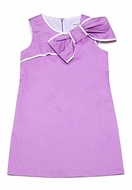 Maria Casero by Luli & Me Girls Lavender Easter Dress with Bow
