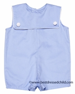 Mulberry Street Baby Boys Light Blue Square Collar Shortall