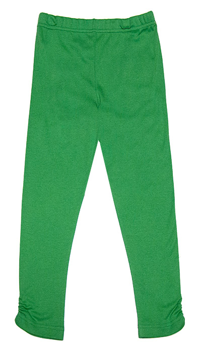 Peaches 'n Cream Girls Christmas Green Ruched Leggings