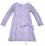 Peaches 'n Cream Lilac Lavender Lace Easter Dress