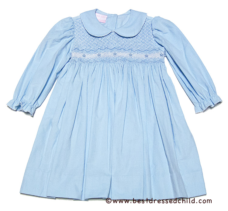 Petit Bebe by Anavini Baby / Toddler Girls Light Blue Corduroy ...