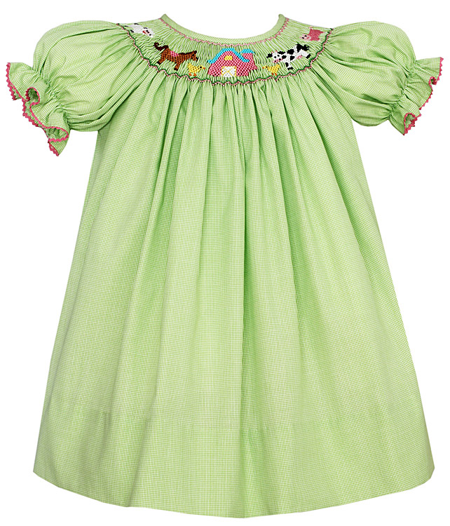 Fall Smocked Dresses For Little Girls Petit Bebe by Anavini Baby