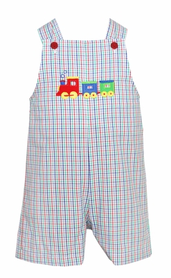 Petit bebe by anavini infant toddler boys blue green red plaid train sh - Plaid bebe petit pan ...