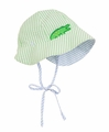 Florence Eiseman Baby Boys Zoo Stack Reversible Blue / Green Seersucker Sun Hat