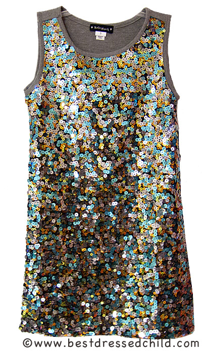 Alfa img - Showing > Gray Sequins Dress for Girls
