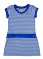 Studio 342 by Eiseman Girls Royal Blue / White Striped Dress