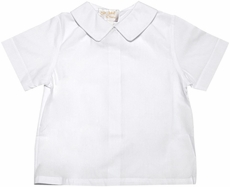 Rosalina Baby / Toddler Boys White Shirt with Pointed Collar & Short Sleeves