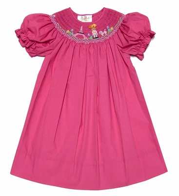 Rosalina Baby Toddler Girls Fuchsia Hot Pink Smocked