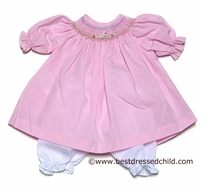 Rosalina Pink Gingham Smocked Easter Bunny DOLL Dress with Pantaloons - Fits 18 in. Doll