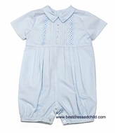 Sara Louise Infant Baby Boys Light Blue Dressy Outfit with Embroidery