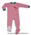 Sara's Print Infant / Toddler Girls / Boys Red Stripe Reindeer Pajama Footy