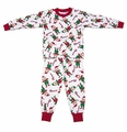 Sara's Prints Cute Red Christmas Elves PJ's / Pajamas - Unisex / Boys